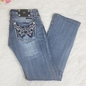 Miss me dark washed studed denim jeans size 27